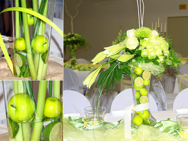 Wedding decorations in green why not What a nice idea to use nature 39s